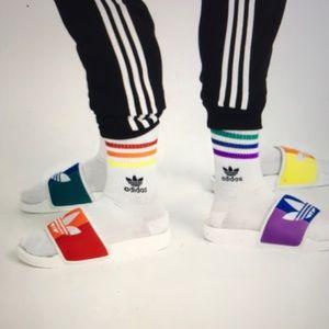 Adidas Adilette Pride Slides NWOB
